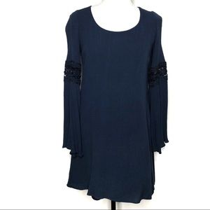 Altar'd State Navy Boho Shift Dress
